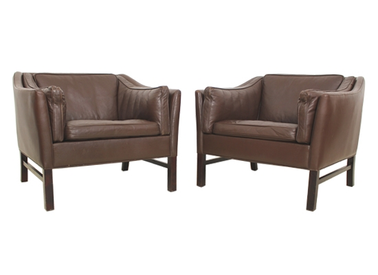 danish leather club chairs