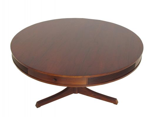 Large Rosewood Drum Table