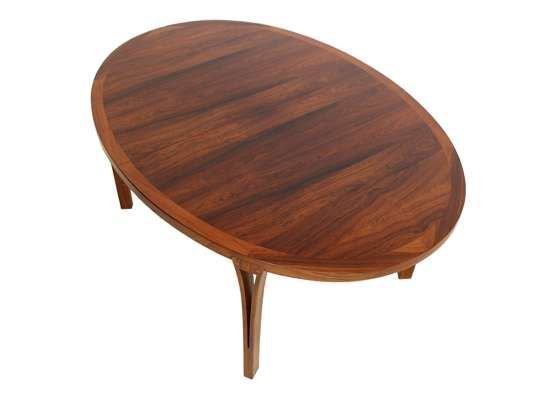 sven ellekaer danish rosewood oval dining table