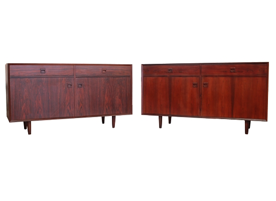 two large rosewood cabinets