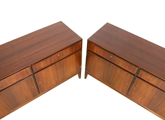 a pair of danish rosewood cabinets.