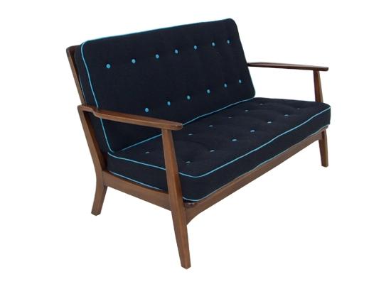 danish 2 seat 1950s sofa