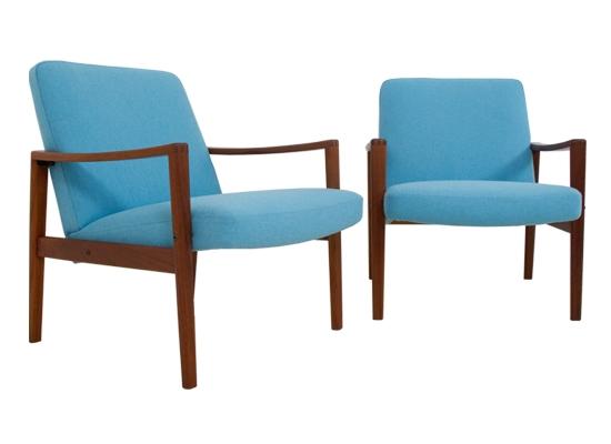 danish teak easy chairs