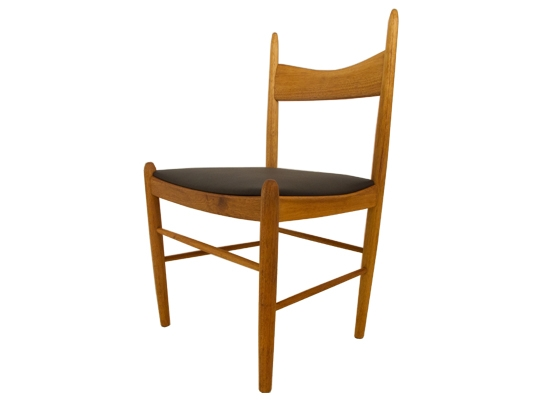 illum wikkelso teak dining chairs