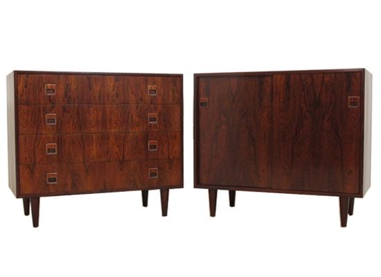 a rosewood sliding door cabinet