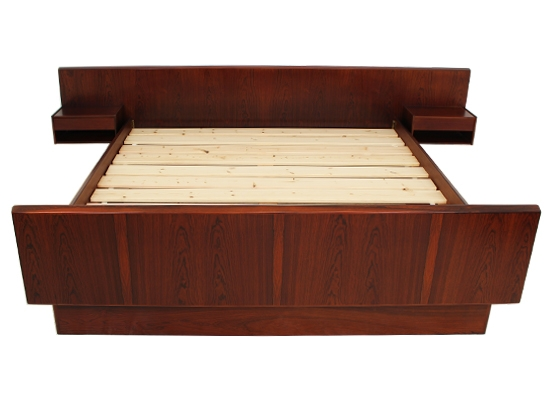 danish rosewood double* bed