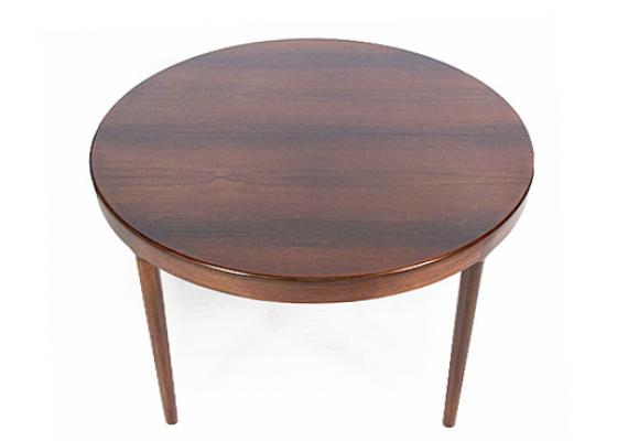 LARGE ROSEWOOD EXTENDING DINING TABLE