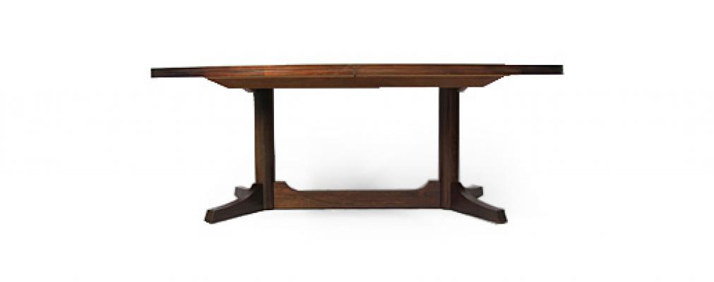 ROBERT HERITAGE ROSEWOOD OVAL DINING TABLE