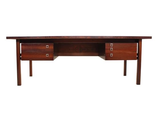 large arne vodder rosewood desk