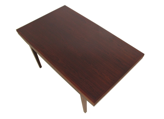 large rosewood extending danish dining table