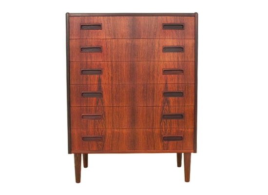 a danish rosewood chest of drawers