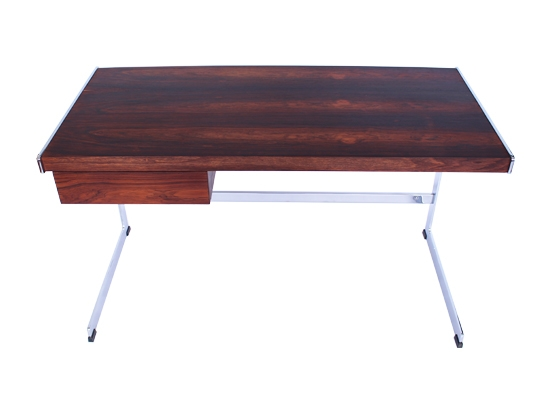 merrow rosewood and chrome desk