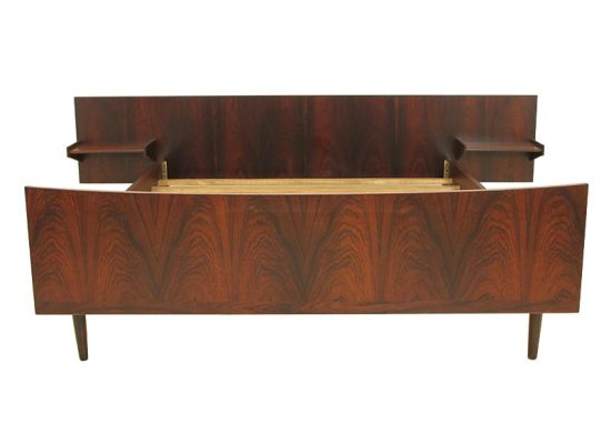 Rosewood Bed With Floating Side Tables …4