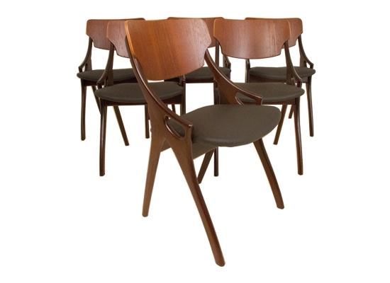 6 arne hovmand olsen dining chairs model 71