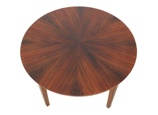 danish rosewood diamond cut dining table