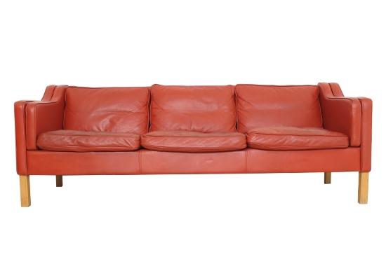 borge mogensen style 3 seat sofa