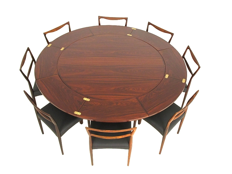 8 fine rosewood dining chairs