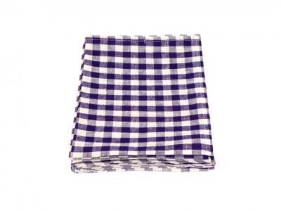 Linen Kitchen Cloth Purple White Check