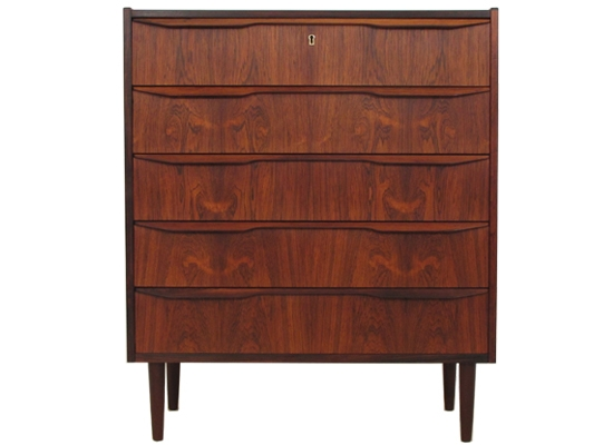 large rosewood chest of drawers