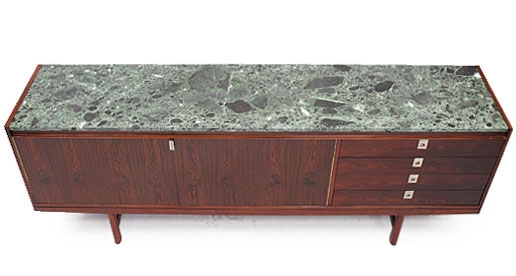 robert heritage rosewood and marble sideboard