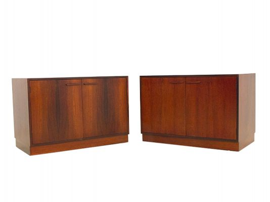 A pair Of Danish Rosewood Cabinets  one
