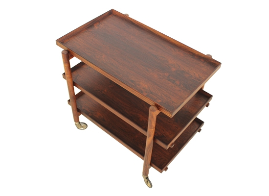 poul hundevad rosewood serving trolley ph23/2
