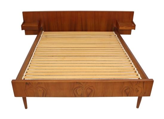 danish double teak bed