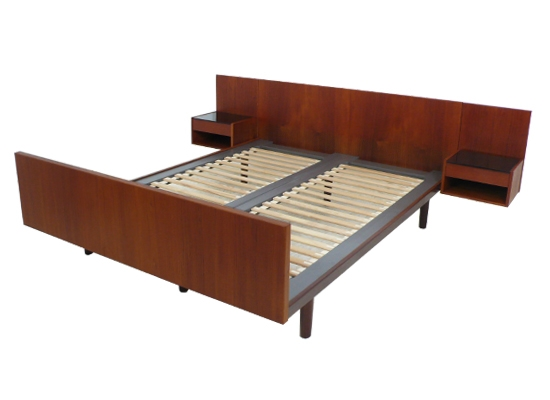 hans wegner teak double bed