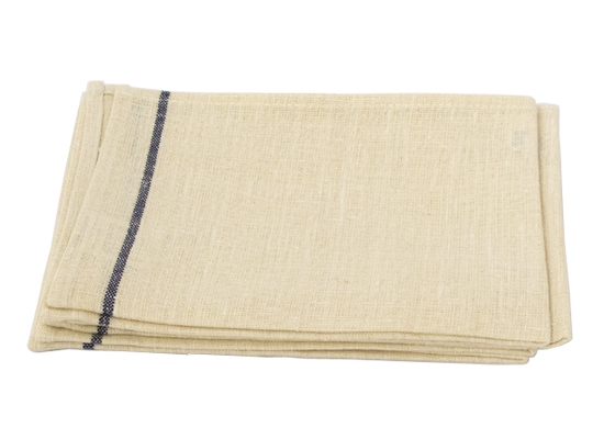 thick linen kitchen cloth white navy stripe