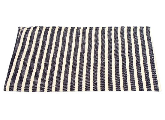 linen place mat navy border