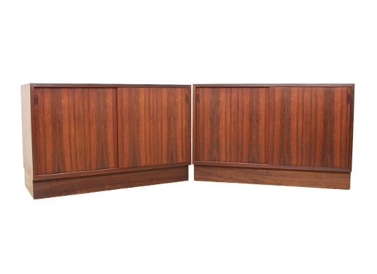 rosewood danish cabinets