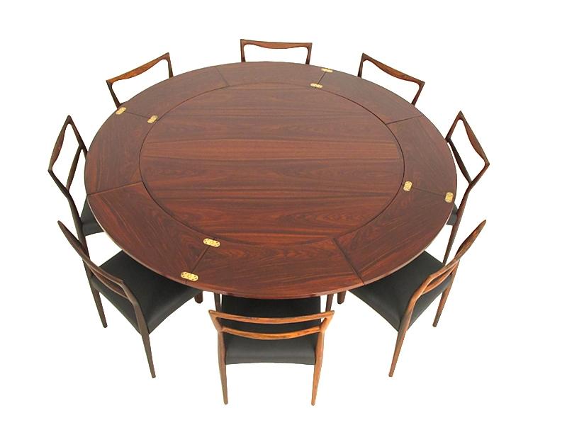 rosewood flip flap table