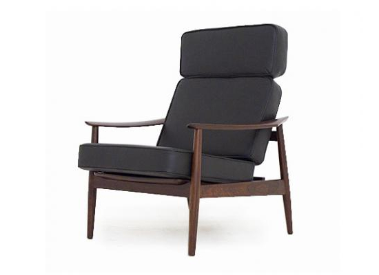 arne vodder easy chair and footstool