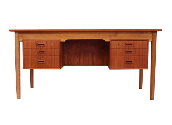 borge mogensen teak and oak desk