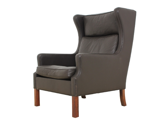 classic danish wing chair