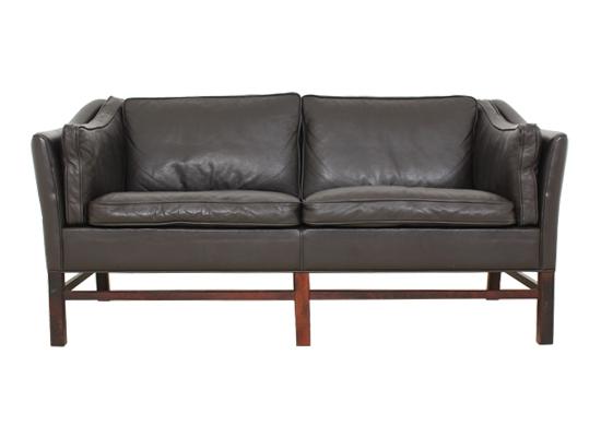 classic danish 2 seat sofa