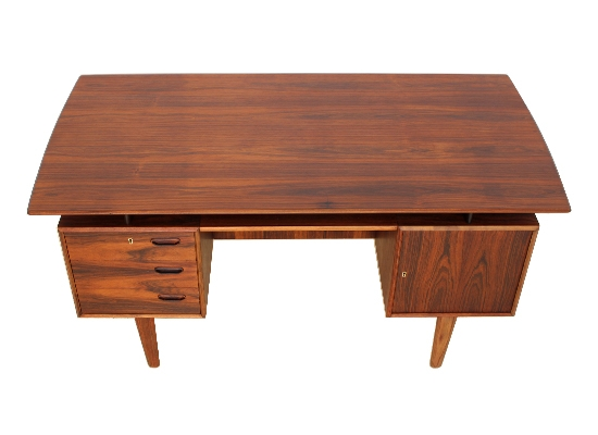 1960s danish floating rosewood desk orange and brown - Orange floating desk ...