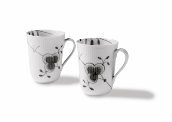 black fluted mega mug 2 pack