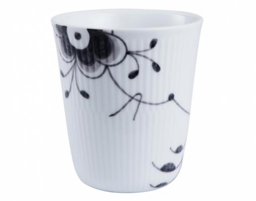 black fluted mega thermal mug