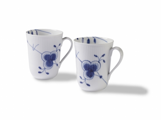 blue fluted mega Mug 2 pack