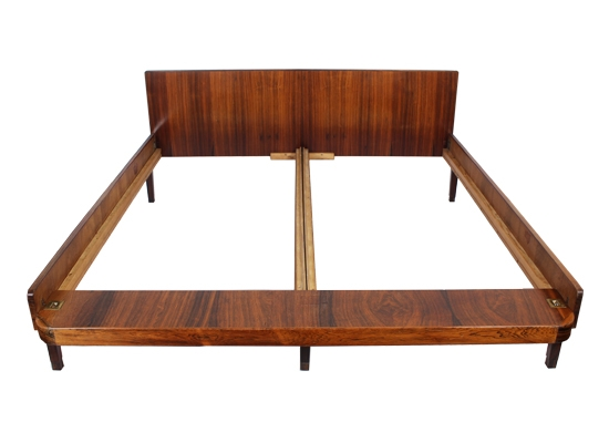 rosewood and brass double* bed