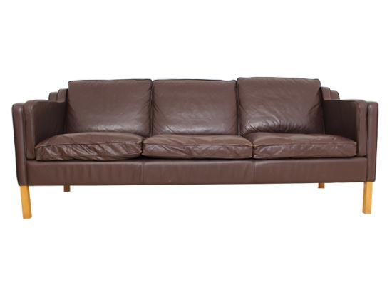 leather and feather mogensen stouby sofa