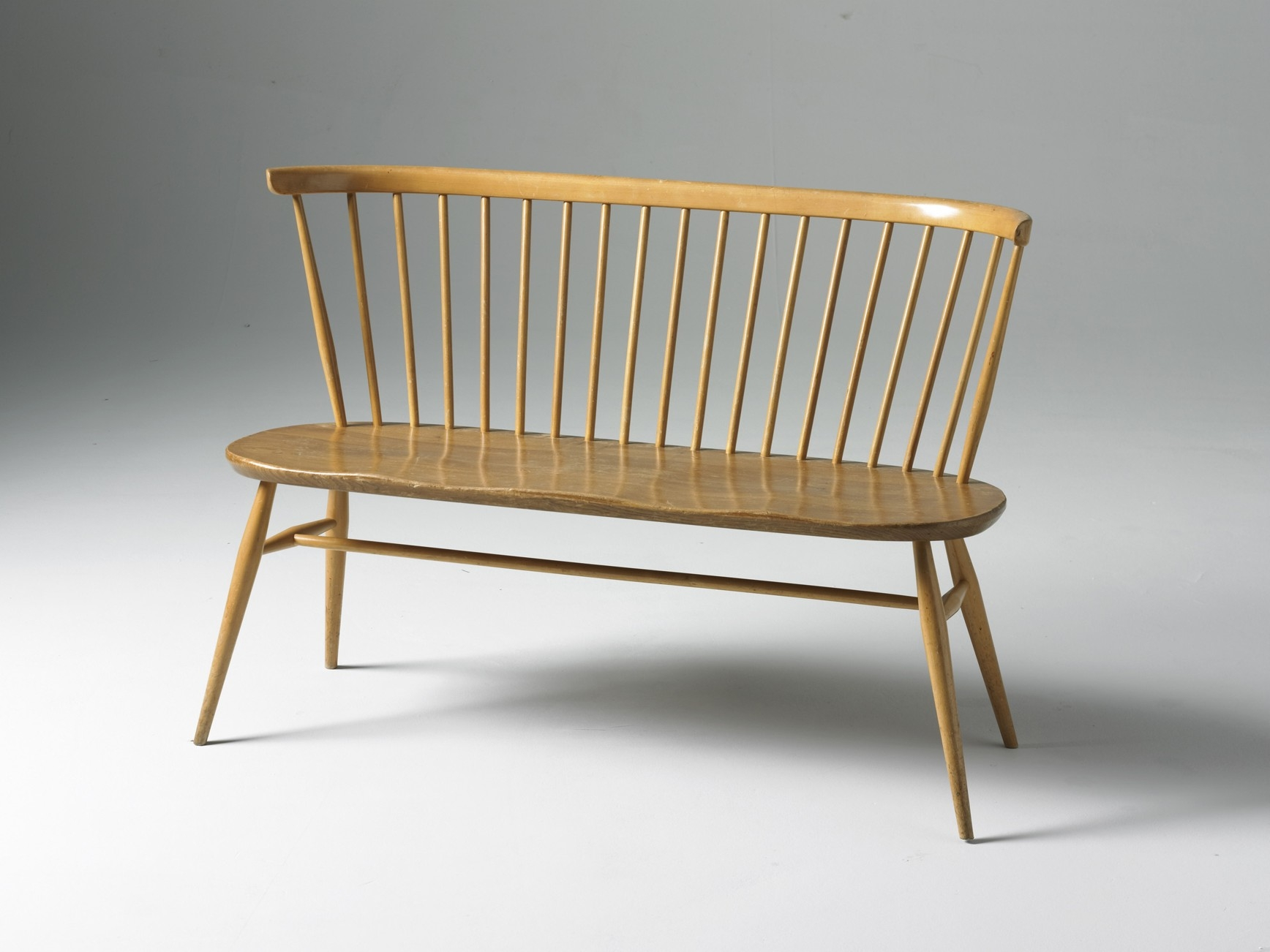 Ercol Love Seat Orange And Brown