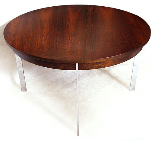 Merrow Rosewood - Chrome Plated Steel Dining Table