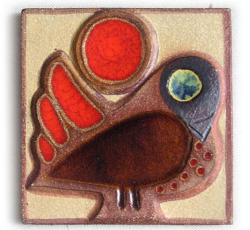 Soholm Noomi Stoneware Wall Plague Bird 1