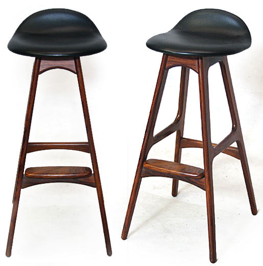 Leather - Rosewood Stool Model 0d 61