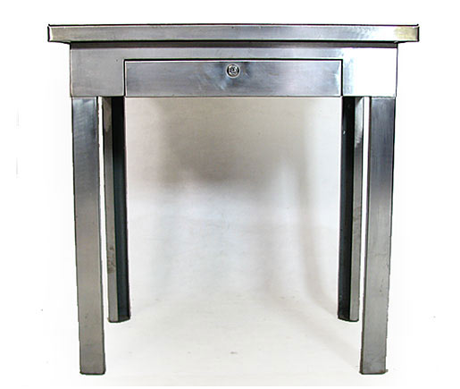 1930s Steel Desk With A Drawer