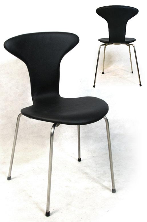 Four Leather Mosquito Chairs Model 3105
