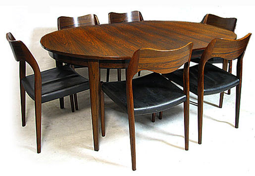 Brazilian Rosewood Super Extendable Dining Table