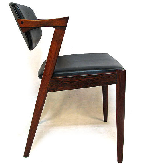 Six Kristiansen Rosewood Dining Chairs Model No. 42
